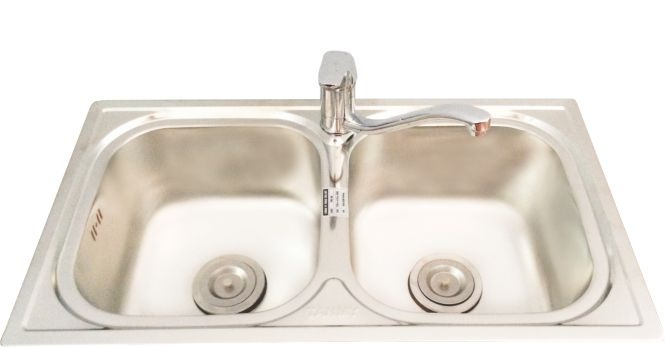 Double-trays sink