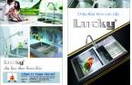 Chậu rửa Inox nhập khẩu cao cấp Lucky Tân Mỹ, chậu rửa bát âm cho tủ bếp hiện đại.